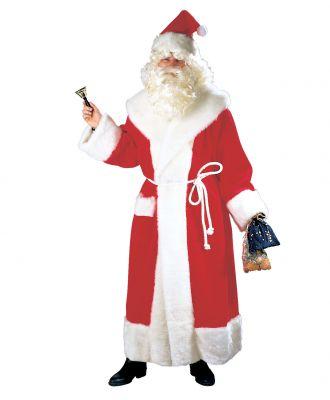 Nikolaus Weihnachtsmann Mantel Kostüm mit Mütze DEUTSCHE HERSTELLUNG