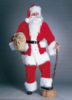 Nikolaus Weihnachtsmann Kostüm Hochwertiger Cordanzug