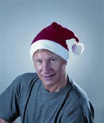Nikolaus Weihnachtsmann Mütze Flanell Party-Spass
