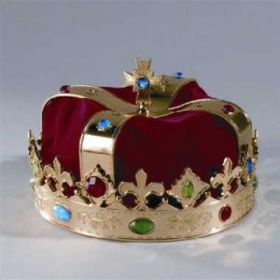 Krone König Prinz Karneval Fasching Kostüm Party
