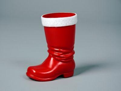 Roter Plastikstiefel Nikolaus Weihnachtsmann Santa Claus Accesso