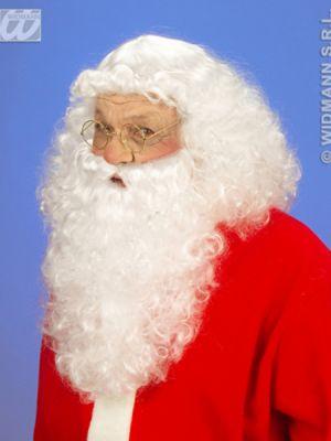 Nikolaus Weihnachtsmann Santa Claus Bart und Perücke