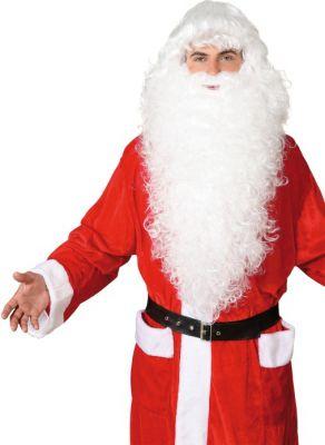 Nikolaus Weihnachtsmann Santa Claus Bart Perücke extra lang