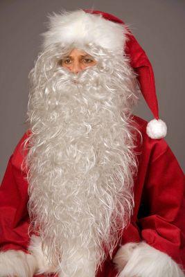 Nikolaus Weihnachtsmann Bart und Haarkranz eisgrau