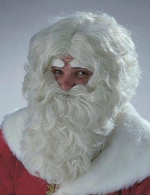Nikolaus Weihnachtsmann Perücke naturfarben