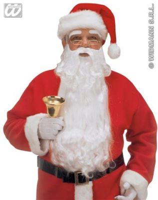 Weihnachtsmann Nikolaus Bart und Augenbrauen im Set