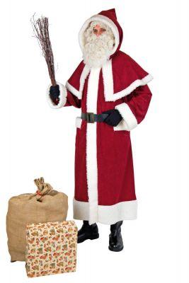 Nikolaus Weihnachtsmannmantel mit Pellerine Santa Claus Hochwertig