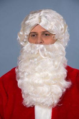 Nikolaus Bart und Perücke flachsblond Weihnachtsmann Nikolaus Set