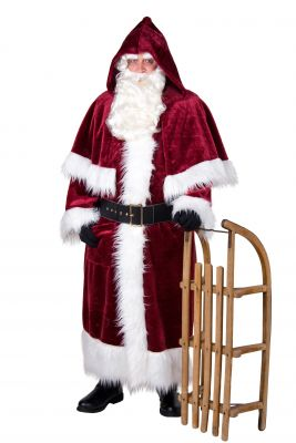 Mantel mit Pellerine Weihnachtsmantel Nikolausmantel Nostalgisch Deutsche Herstellung