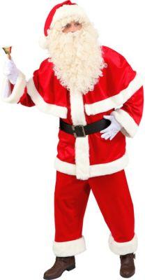 Nikolaus Weihnachtsmann Weihnachtsmannanzug aus Samt Top Qualität