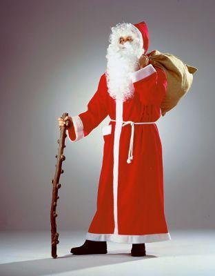 Nikolausmantel Weihnachtsmannkostüm bodenlanger Stoffmantel