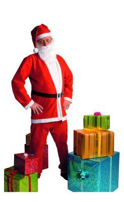Nikolausanzug Weihnachtsmann Nikolauskostüm mit Mütze und Bart M/L