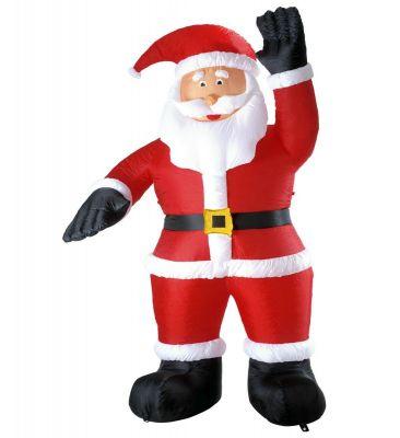 Riesiger aufblasbarer Weihnachtsmann Nikolaus Innen Außen Dekoration Figur
