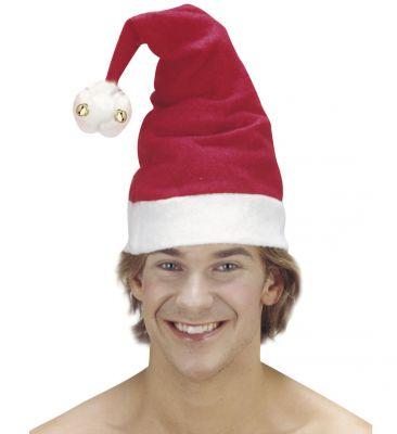Nikolausmütze Weihnachtsmannmütze mit Glöckchen Weihnachtsmarkt