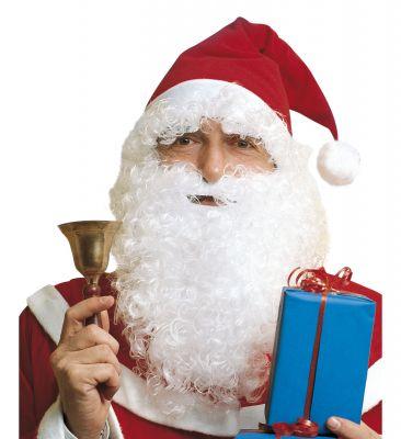 Nikolaus Set Weihnachtsmann Set 3 teilig Nikolausbart Nikolausperücke