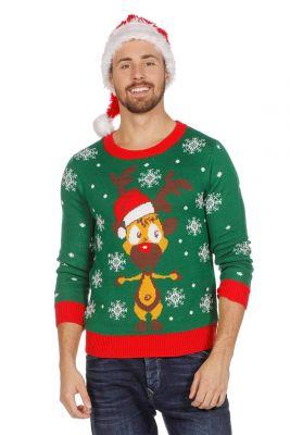 Weihnachtspulli Rentierpullover Weihnachtspullover Rudolph