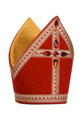Professionelle Mitra Baumwolle hochwertige Qualität Sankt Nikolaus Bischof