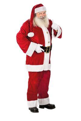 Weihnachtsmann Deluxe Nikolaus Rot Jacke Hose Mütze Gürtel Anzug XL