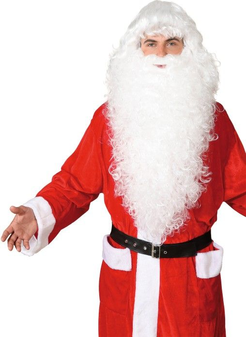 Zubehör zum Kostüm Nikolaus Weihnachtsmann Perücke Bart Augenbrauen