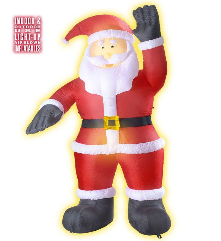 Riesiger aufblasbarer weihnachtsmann nikolaus innen au en for Dekoration innen