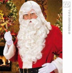 Nikolaus Weihnachtsmann Perücke mit Bart und Augenbrauen
