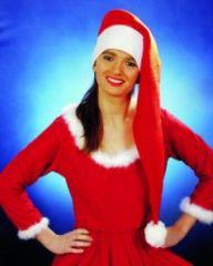 Nikolaus Weihnachtsmann Mütze sehr lang Weihnachtsfeier