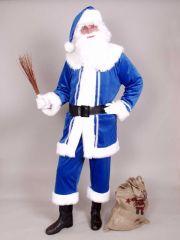 Nikolaus Weihnachtsmann Mantel in blau Väterchen Frost