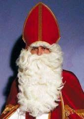 Nikolaus Weihnachtsmann Bart + Perücke de Luxe