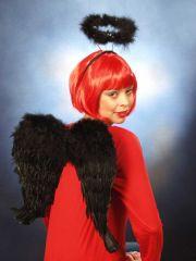 Teufel Teufelsflügel schwarz od.rot Halloween Karneval