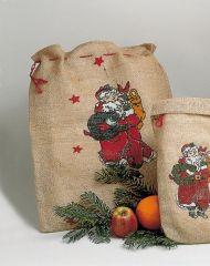Jutesack Nikolaus Weihnachtsmann ca. 50 cm
