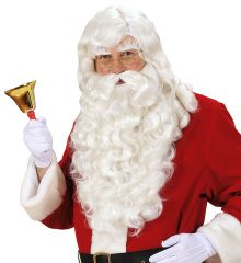Nikolaus Weihnachtsmann Perücke + Bart Deluxe Modell