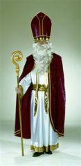 Bischofskleid weiß mit goldener Schärpe Albe