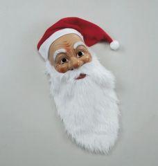 Nikolaus Weihnachtsmann Maske mit Mütze u. Bart