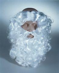 Nikolaus Weihnachtsmann Bart u. Haarkranz Santa Claus weiß