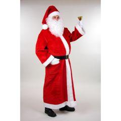 Plüschmantel lang Weihnachtsmann Nikolaus Weihnachten