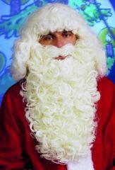 Weihnachtsmann Nikolaus Bart Luxus naturfarben od. weiß