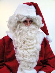Nikolaus Weihnachtsmann langer Bart in naturfarben Nikolausbart