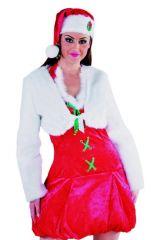 Bolero Pelz Plüsch Boleroplüsch Damenbolero Zubehör Weihnachtsdame