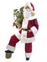 Nikolaus Weihnachtsmann Santa Claus Schäfchenplüsch Rustikal Nostalgisch