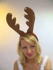 Rentiergeweih mit Glöckchen Weihnachten Karneval Party