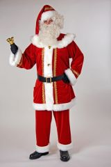 Edler Samtanzug für den Nikolaus und Weihnachtsmann Made in Germany