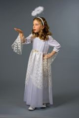 Engelskleid für Kinder Kostüm Christkind Weihnachtsfest oder Krippenspiel