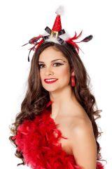 Miss Santa Nikoläusin eleganter Weihnachtshut Diadem Kopfschmuck
