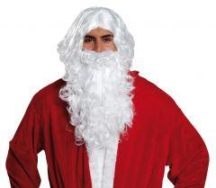 Nikolausbart und Perücke Weihnachtsmannperücke im Set Santa Klaus