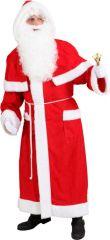 Nikolaus Weihnachtsmann Nikolausmantel Komplettkostüm mit Bart und Perücke