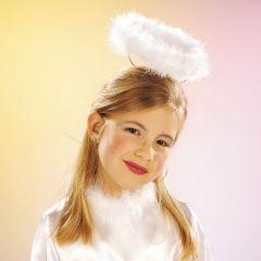 Heiligenschein Federmarabout Christkind Engel Weihnacht