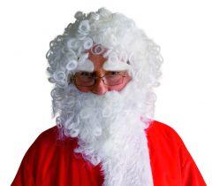 Weihnachtsperücke mit Bart und Augenbrauen Nikolausperücke Nikolausbart