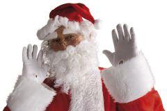 Weihnachtsmütze mit Bart Perücke und Augenbrauen Nikolausset Weihnachtsmann