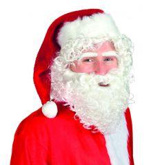 Santa Nikolausset Weihnachtsmannperücke Augenbrauen Nikolausbart