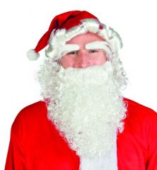 Nikolaus Weihnachtsmann 3 tlg. Nikolausbart Santa Claus